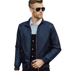 Jual Manzone Bomber Jacket Casual Modern Style Biru Manzone Branded