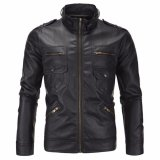 Spesifikasi Manzone Fashion Pria Jaket Kulit Modern Style Hitam Terbaru