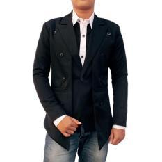 Toko Manzone Fashion Pria Jas Elegant Slimfit Modern Hitam Manzone Online