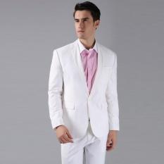 Review Manzone Setelan Jas Formal Modern Slimfit Style Putih Manzone