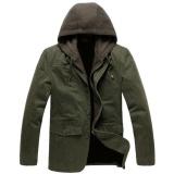 Review Tentang Manzone Jaket Hoodie Casual Elegant Army Green