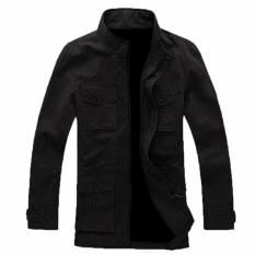 Review Terbaik Manzone Jaket Pria Casual Elegant Style Hitam