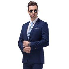 Beli Manzone Jas Dan Celana Pria Formal Elegant Design Biru Cicilan