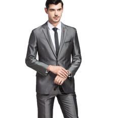 Spesifikasi Manzone Setelan Jas Pria Exclusive Slimfit Elegant Abu Abu Baru