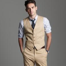 Diskon Besarmanzone Setelan Vest Dan Celana Pria Modern Cream
