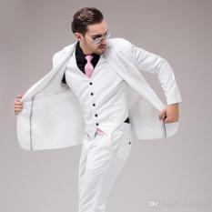 Harga Manzone Jas Vest Dan Celana Pria Exclusive Slimfit Putih Yang Murah
