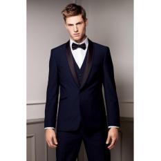 Harga Manzone Setelan Jas Dan Celana Pria High Class Slimfit Elegant Biru Branded