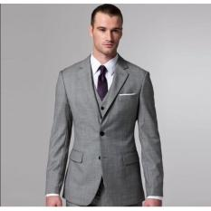Diskon Besarmanzone Setelan Jas Dan Celana Pria Modern Model Slimfit Grey