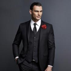 Toko Manzone Setelan Jas Elegant Untuk Pria Glossy Hitam Termurah