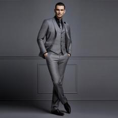 Katalog Manzone Setelan Jas Pria Glossy Slimfit Elegant Abu Abu Manzone Terbaru