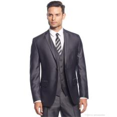Beli Manzone Setelan Jas Vest Dan Celana Pria High Class Slimfit Elegant Abu Abu Cicil