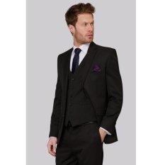 Promo Manzone Setelan Jas Vest Dan Celana Pria High Class Slimfit Elegant Hitam