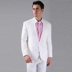 Review Manzone Stelan Jas Pria Dan Celana Eksklusif Putih Manzone