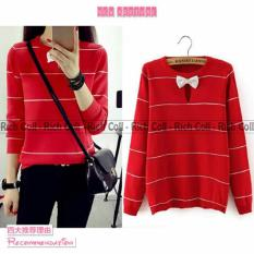 Harga Marchel Ribbon Neck Merah Online