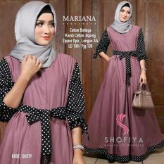 Jual Mariana Dress Cotton Botega Gamis Modern Original