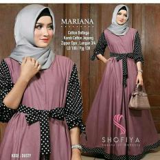 Mariana Dress Polka - Baju Muslim Wanita - Dress Polkadot - Baju Gamis Wanita - Gamis - Gaun - Gamis Katun