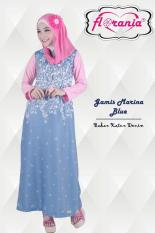 Marina - Gamis Katun Denim - Jual Hijab & Busana Muslim Online