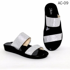 Jual Marlee Ac 09 Y Strap Plaform Sandal Wanita Gliter Silver Termurah