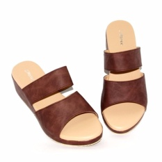 Toko Marlee Ac 12 Wedges Sandal Wanita Coklat Lengkap Di Jawa Barat