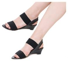 Marlee BB-15 Wedges Sandal Hitam