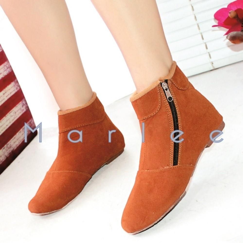 Marlee BKD-02 Sepatu Boots Wanita - Tan