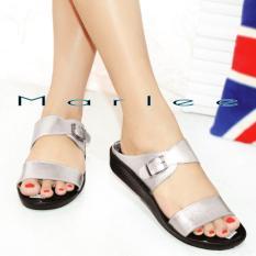 Beli Marlee Double Strap Plaform Sandal Wanita Jn 08 Silver Lengkap
