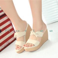 Harga Marlee Double Strap Wedges Sandal Wanita Dk 14 Baru