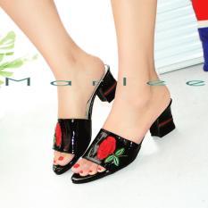 Promo Marlee Mid Heels Sandal Wanita Jn 02 Hitam Marlee