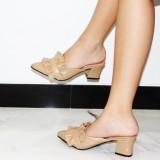 Dapatkan Segera Marlee Mid Heels Sandal Wanita Jn 04 Moca