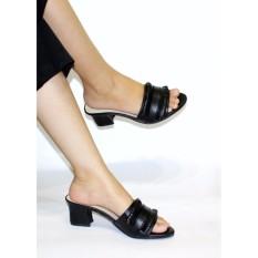 Model Marlee Mid Heels Sandal Wanita Jn 07 Hitam Terbaru