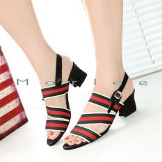 Marlee Mid Heels Shoes Wanita Jn 13 Hitam Marlee Diskon 30