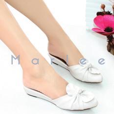 Marlee Pointed Toe Bow Sandal MMT-01 Putih