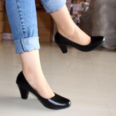 Promo Marlee Sepatu Pantofel Wanita Block Heels Pta 01 Hitam Marlee