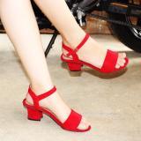 Diskon Marlee Uk 01 Wedges Heels Wanita Merah Akhir Tahun