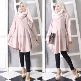 Miliki Segera Marlow Jean Baju Wanita Muslim Tunik Blouse Fashion Wanita Muslim Baju Ibu Menyusui Coklat