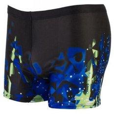 Marlow Jean Celana Renang Pria Swimwear Pants All Size Motif Abstrak - Hitam