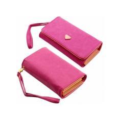 Ulasan Lengkap Tentang Marlow Jean Dompet Uang Sekaligus Dompet Handphone Dompet Bahan Kulit Serbaguna Pink