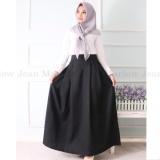 Harga Marlow Jean Rok Panjang Rok Hijabers Simple Women Long Skirt Rok Polos Panjang Hitam Marlow Jean Terbaik