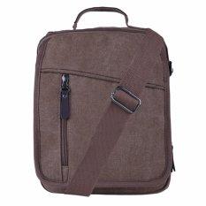Spesifikasi Marlow Jean Tas Selempang Pria Tas Slempang Sling Bag Bahan Canvas Coklat Tua Yang Bagus Dan Murah