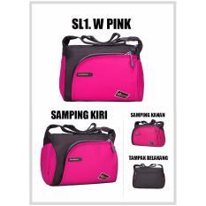 Martin Versa SL1.W Tas Slempang Kanvas Nylon Wanita Slingbag - Pink
