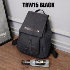 Beli Martin Versa Tas Trw15 Backpack Impor Import Ransel Wanita Kanvas Black No Brand Murah