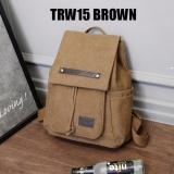 Martin Versa Tas Trw15 Backpack Impor Import Ransel Wanita Kanvas Brown Terbaru