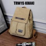 Review Martin Versa Tas Trw15 Backpack Impor Import Ransel Wanita Kanvas Khaki No Brand