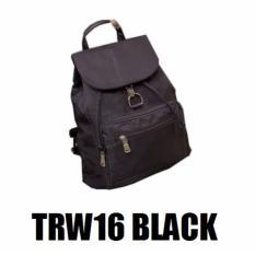 Martin Versa Tas TRW16 Backpack impor import Ransel Wanita Kanvas Nylon - Black