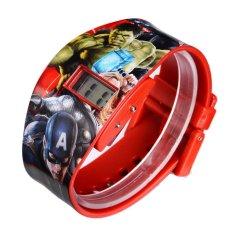 Toko Marvel The Avengers Jam Tangan Digital Anak Merah Tali Pvc Mvsq8105 Terdekat