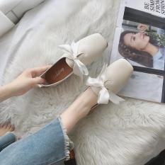Harga Mary Jane Korea Fashion Style Perempuan Baru Busur Shunv Xie Sepatu Nasi Putih Baru Murah