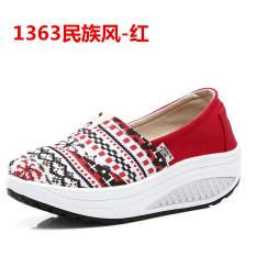 Toko Mary Sepatu Wanita Musim Semi Dan Musim Panas Model Musim Gugur Sepatu Kanvas Pedal Kaki 1363 Angin Nasional Merah Termurah Tiongkok