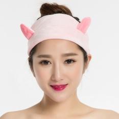 Masker, Hiasan Kepala, Olahraga/Rambut Hoop/Cuci Muka//Ornamen Rambut (pink) -3 Pcs-Intl