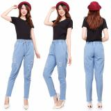 Harga Master Jeans Celana Baggy Ripped Wanita Sobek Rawis Master Jeans Terbaik