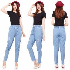 Spesifikasi Master Jeans Celana Baggy Ripped Wanita Sobek Rawis Master Jeans